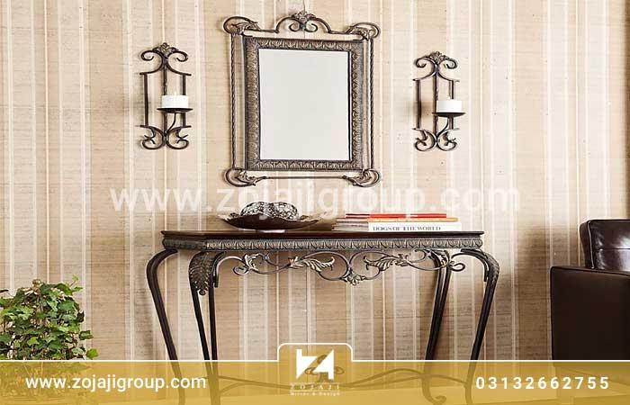 آینه کنسول کلاسیک در چیدمان منزل