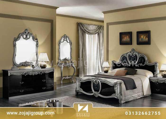 آینه کاری کلاسیک اتاق خواب
