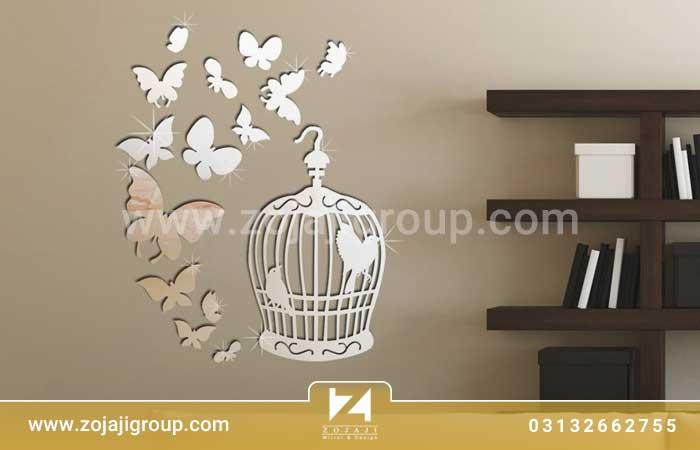آینه دکوراتیو طرح پروانه
