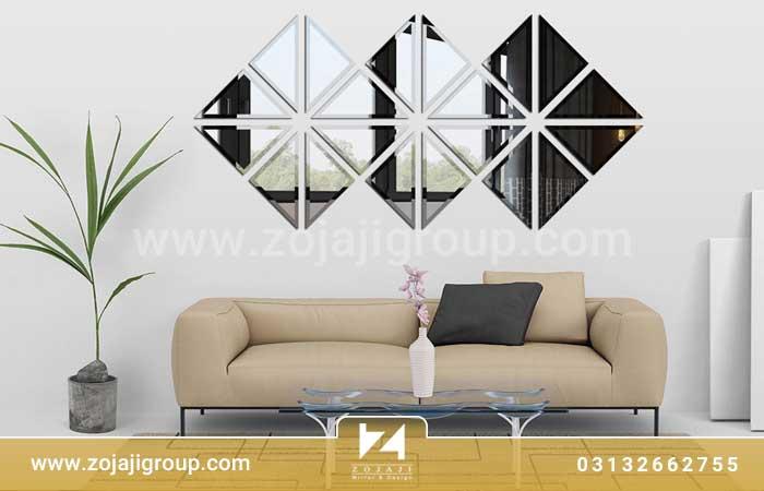 آینه دکوراتیو لوزی